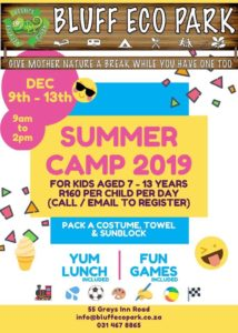 Bluff Eco Park Summer Camp 2019 @ Bluff Eco Park
